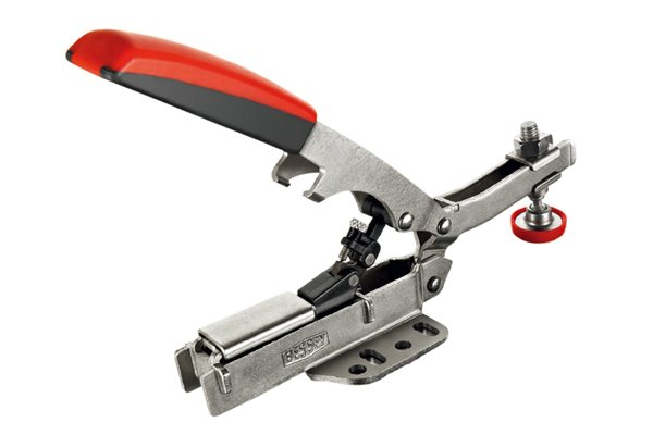 A toggle clamp in a single jaw clamp