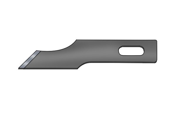 A cranked blade has a bend meaning it is used for awkward cuts