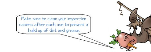 Donkee says 'Remember to clean your inspection camera after each use'