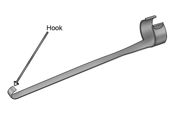 Retrieve out-of-reach objects with a hook
