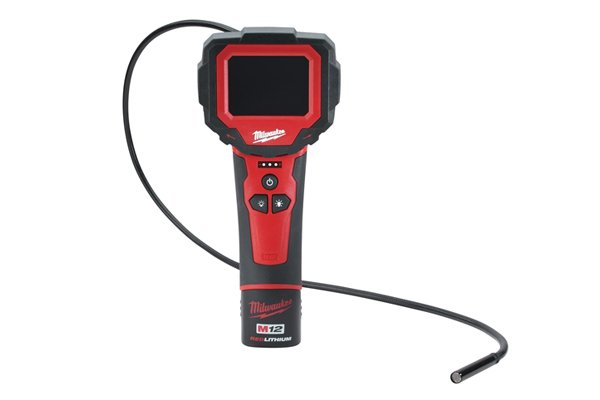 Hand-held cordless inspection camera