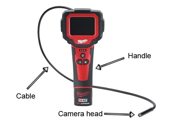 What is an inspection camera made of?