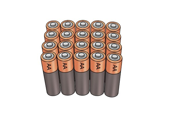 Household batteries do not last as long as rechargeable types