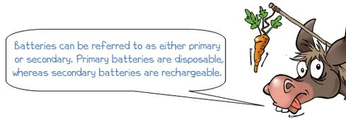 Donkee says 'Batteries can be referred to as primary or secondary'
