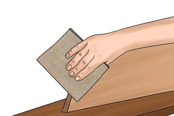 Sandpaper is used to smooth down an object's surface