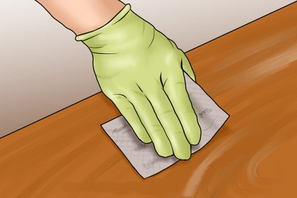 Extra fine sandpaper used for initial polishing
