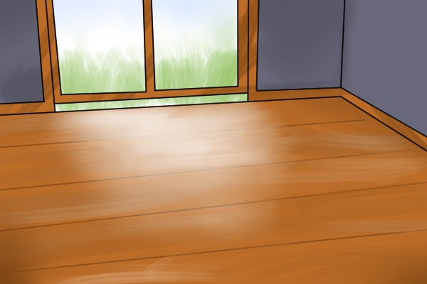 Extra coarse sandpaper can be used to sand hardwood floors