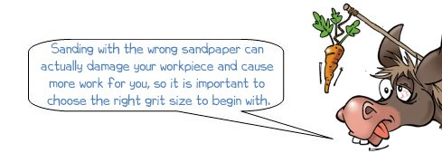 Donkee says 'Sanding with the wrong sandpaper can damage your workpiece'