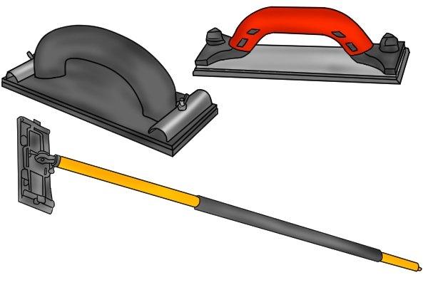 Various types of manual sanders