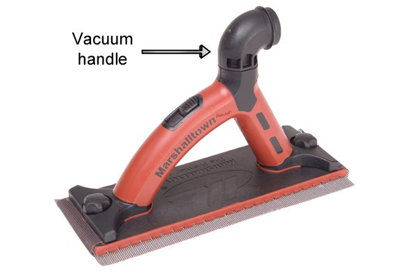 A hand sander can have  a vacuum handle as an addition feature