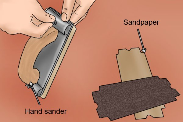 Clamp the sandpaper down to hold it in place
