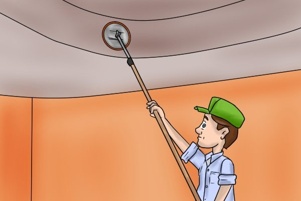 Using a circular pole sander