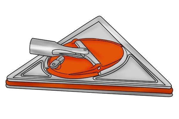 A triangular sander head is the most versatile