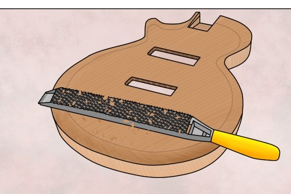 Flat files can be used in guitar making