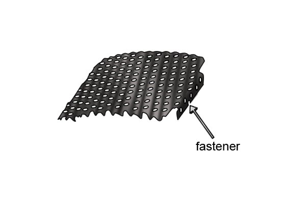 A blade has a fastener at either end