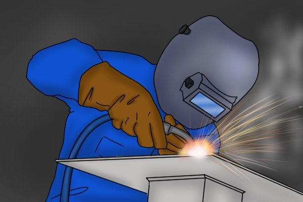 Never weld the base of a vice to any metal