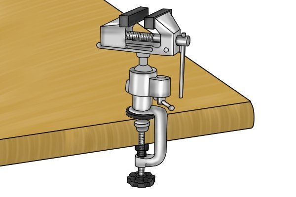 Clamp base table vice