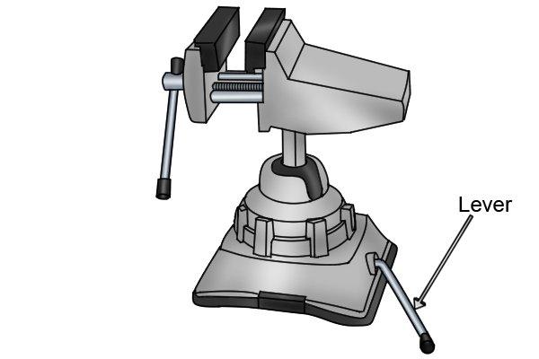 Vacuum base lever