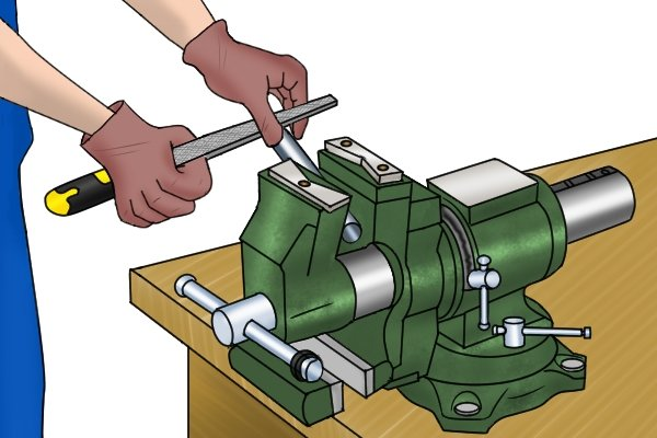Multi-purpose vices often have pipe jaws and an anvil