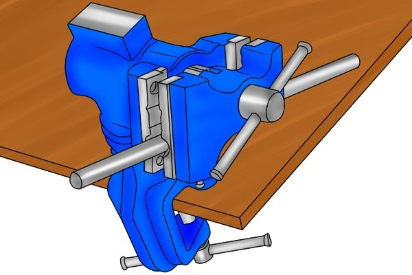 pipe jaws table vice