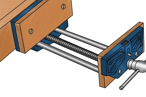 open woodwork vice