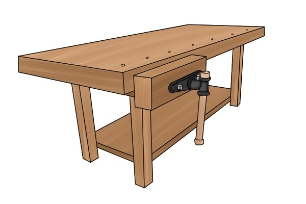 woodworking workbench face vice