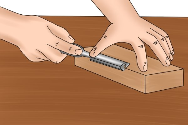 filing wood