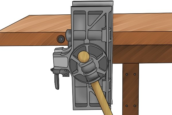 rotated pattern maker's vice
