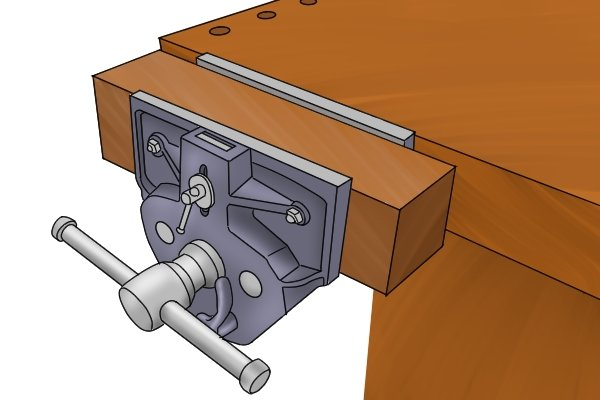 mounted woodwork vice