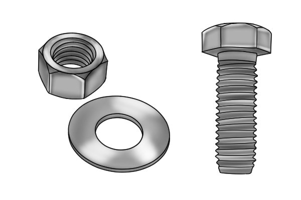 nut bolt and lock washer