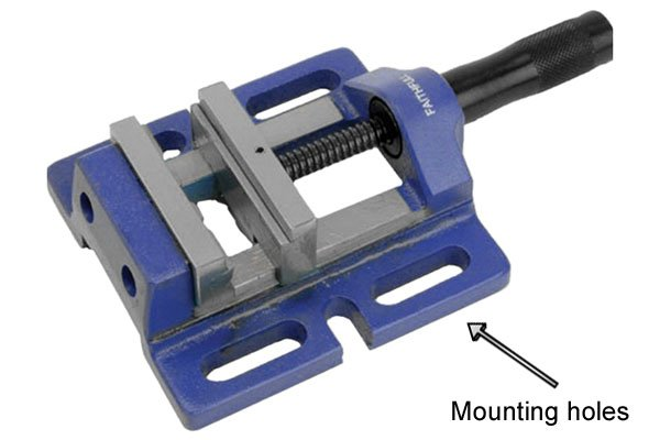 drill press vice mounting holes