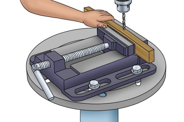 drill press vice