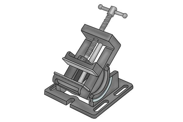 angle drill press vice