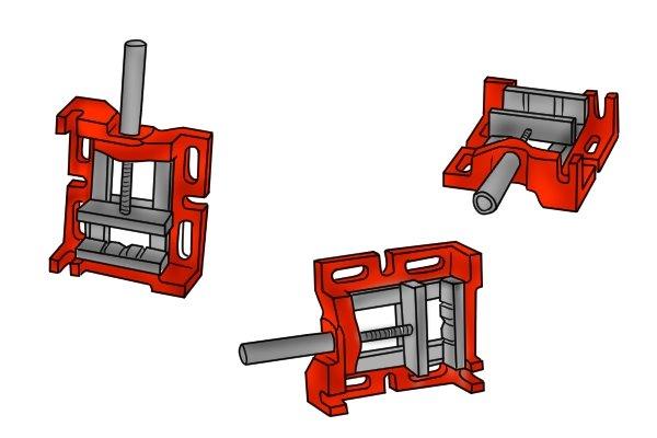 drill press vice with 3 way base