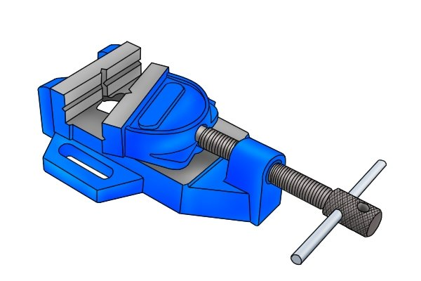 tilting jaw drill press vice