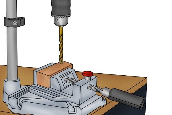 align the drill bit
