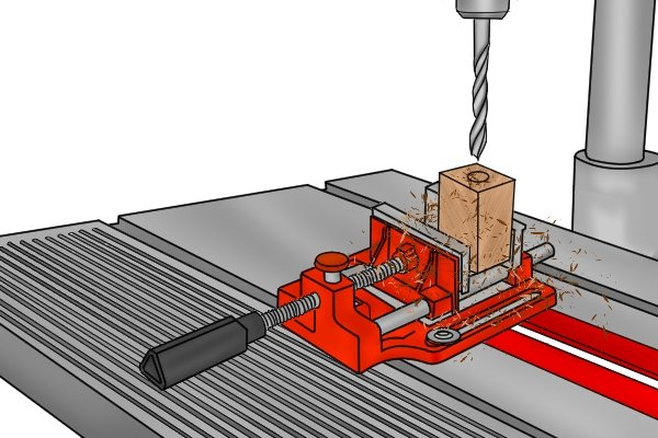 drilling with a drill press vice