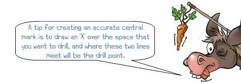 Donkee says 'mark an X to create an accurate central point'