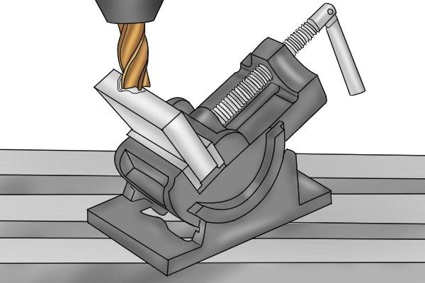 align machine bit with workpiece