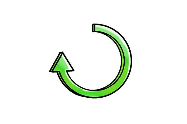 clockwise arrow