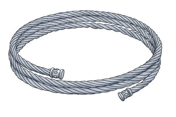 Metal cable bracelet