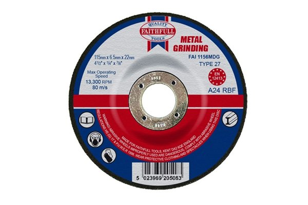 Example of a metal grinding disc, which should be fitted to an angle grinder to sharpen bolt cutters