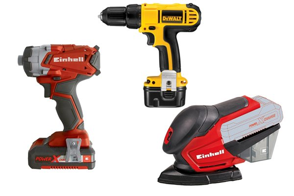 Cordless power tools require rechargeable batteries to provide energy to function.