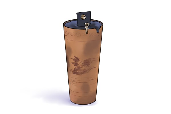 The first dry cell to be commercially sold not long after it's invention by Carl Gassner.