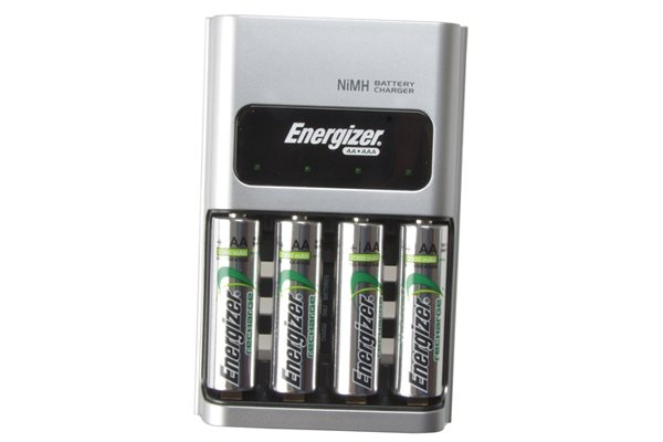 Modern rechargeable batteries and battery charger first invented by Gaston Plante.