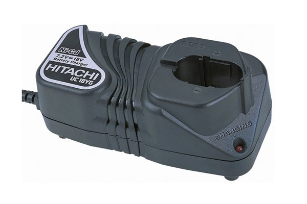 NiCd battery charger for a rechargeable battery for a cordless power tool.