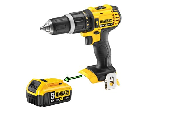 Slide the battery pack out of the cordless power tool or charger.