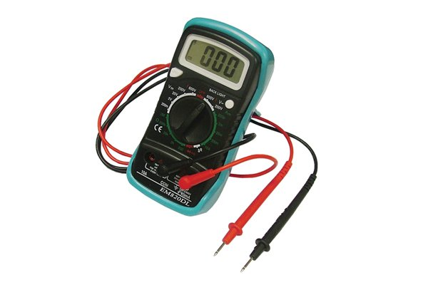Multimeters can be used when diagnosing problems with a battery by measuring the voltage and capacity.