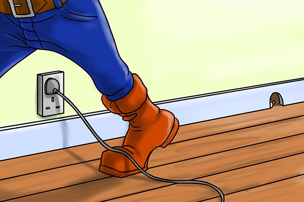 Don't let power lead of charger get trodden on or pulled badly.