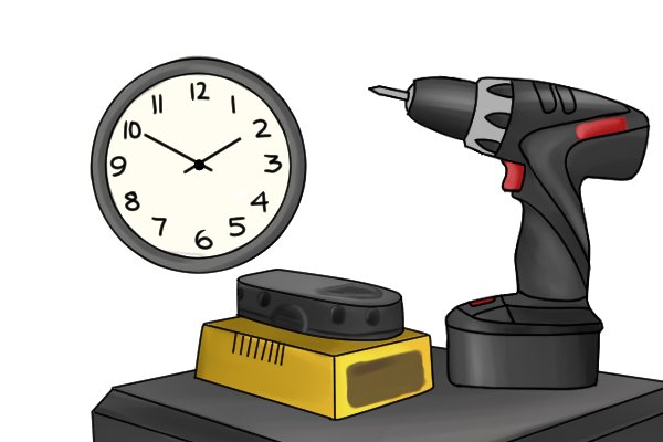 Change the battery when you notice a reduction in power to the cordless power tool.